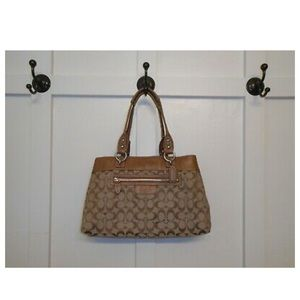 Coach Bags - Coach Brown Penelope Signature  C Shopper Shoulder